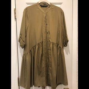 Zara drop waist dress